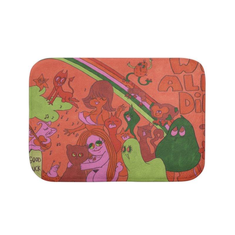 We All Die orange Home Bath Mat by Thunderpuss