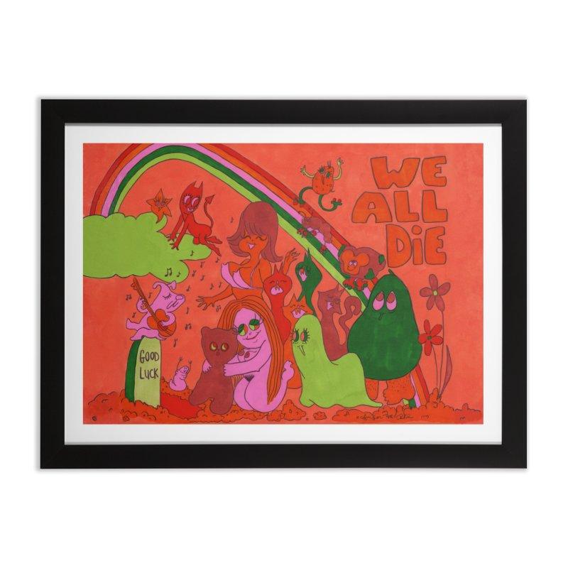 We All Die orange Home Framed Fine Art Print by Thunderpuss