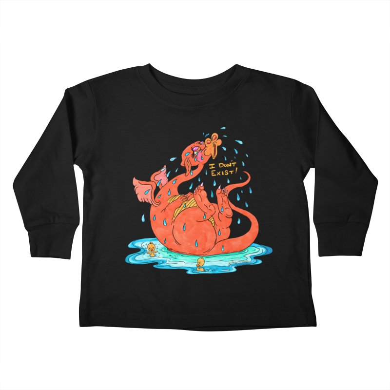 Existential Dragon Kids Toddler Longsleeve T-Shirt by Thunderpuss