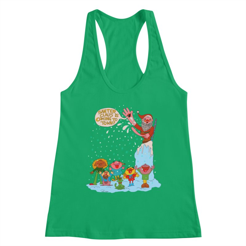 Santer Claus is Coming Women's Tank by Thunderpuss