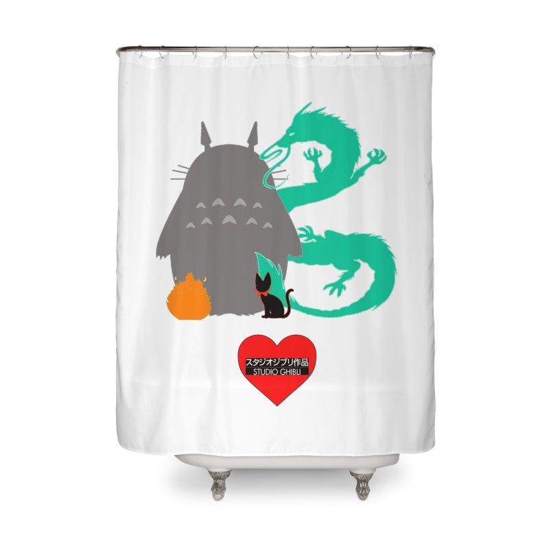 I Love Studio Ghibli Batman Home Shower Curtain