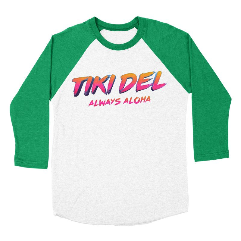 ALOHA TIME Men's Baseball Triblend Longsleeve T-Shirt by Tiki Del