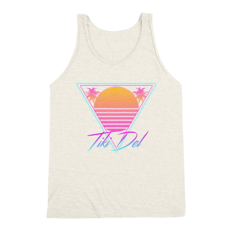 FADED in Men's Triblend Tank Heather Oatmeal by Tiki Del
