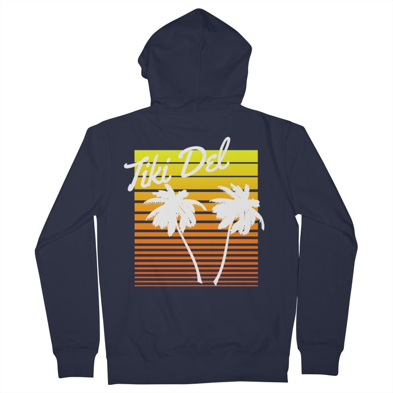SPRING BROKE Men's French Terry Zip-Up Hoody by Tiki Del