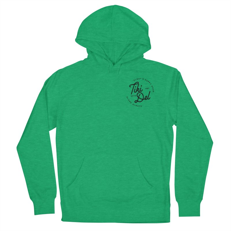 HAPPY HOUR Men's French Terry Pullover Hoody by Tiki Del