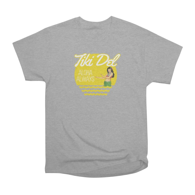 HULA Men's Heavyweight T-Shirt by Tiki Del