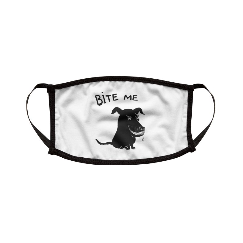 Bite me (black dog 'Blitz') Accessories Face Mask by Timhupkes's Artist Shop