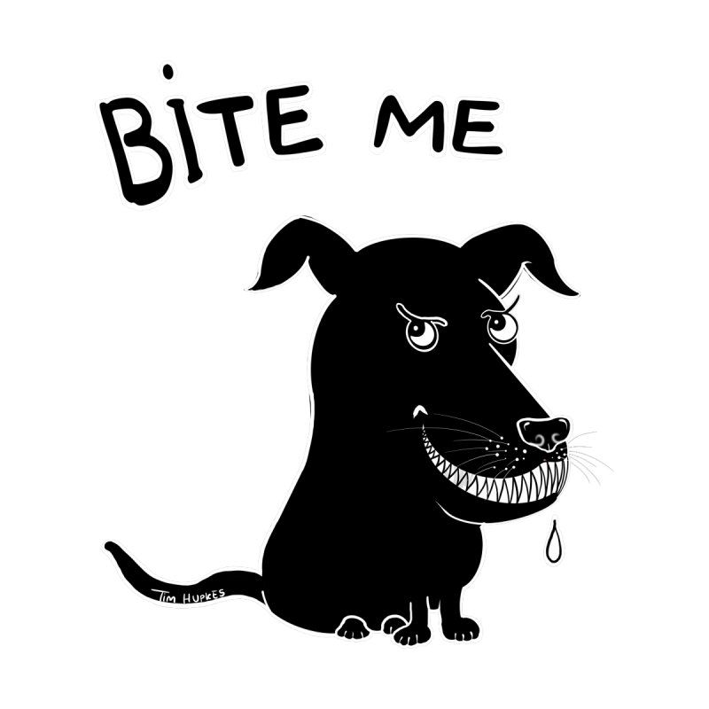 Bite me (black dog 'Blitz') Accessories Mug by Timhupkes's Artist Shop