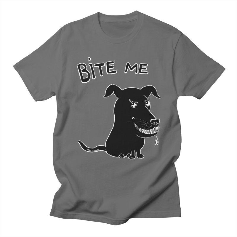 Bite me (black dog 'Blitz') Women's T-Shirt by Timhupkes's Artist Shop