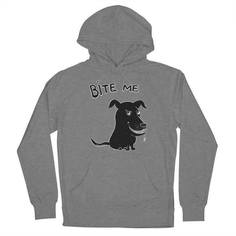 Bite me (black dog 'Blitz') Women's Pullover Hoody by Timhupkes's Artist Shop