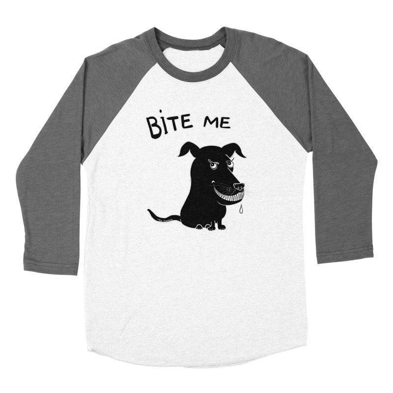 Bite me (black dog 'Blitz') Women's Longsleeve T-Shirt by Timhupkes's Artist Shop