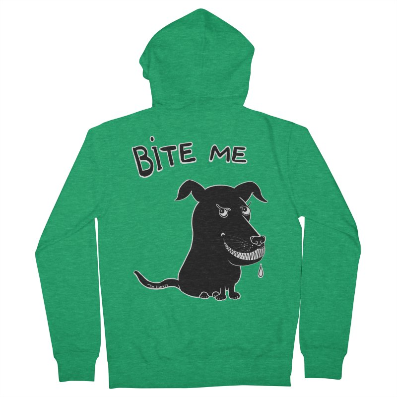 Bite me (black dog 'Blitz') Women's Zip-Up Hoody by Timhupkes's Artist Shop