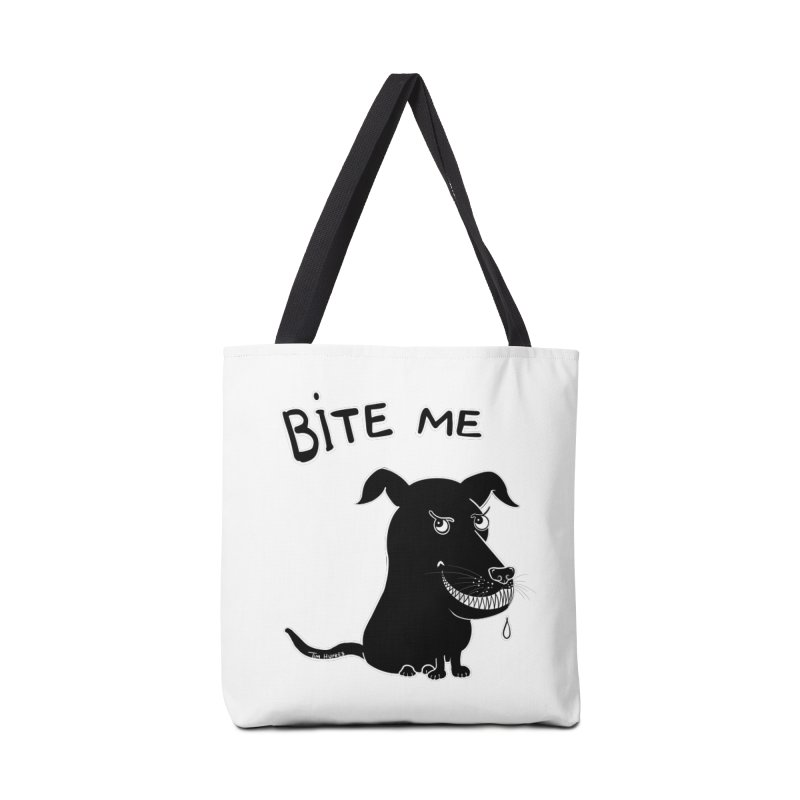 Bite me (black dog 'Blitz') Accessories Bag by Timhupkes's Artist Shop
