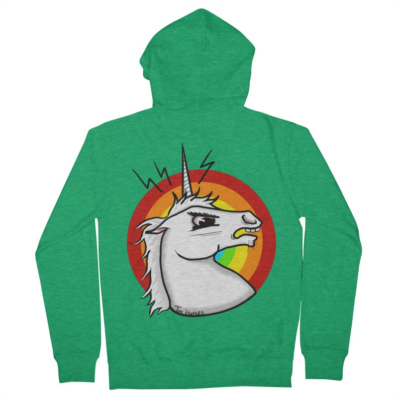 Angry unicorn Women's Zip-Up Hoody by Timhupkes's Artist Shop