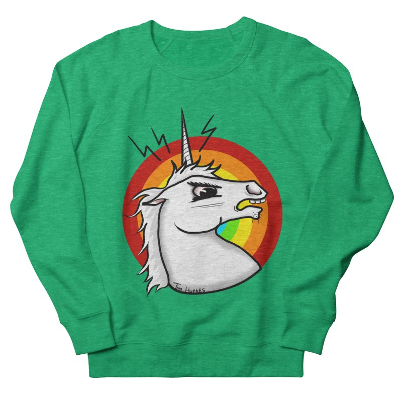Angry unicorn Women's Sweatshirt by Timhupkes's Artist Shop