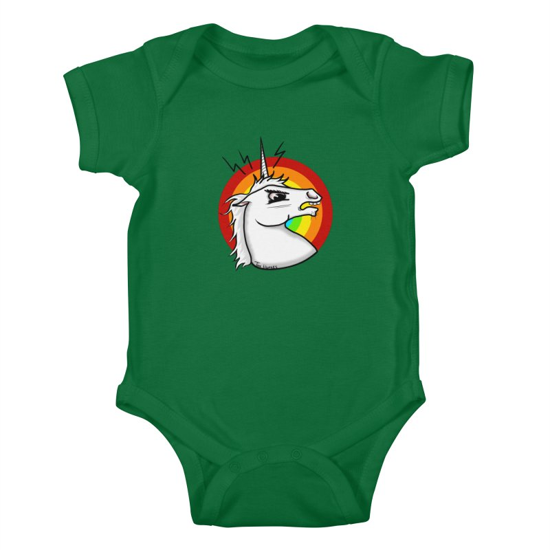 Angry unicorn Kids Baby Bodysuit by Timhupkes's Artist Shop