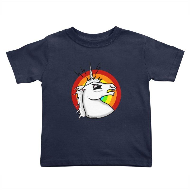 Angry unicorn Kids Toddler T-Shirt by Timhupkes's Artist Shop