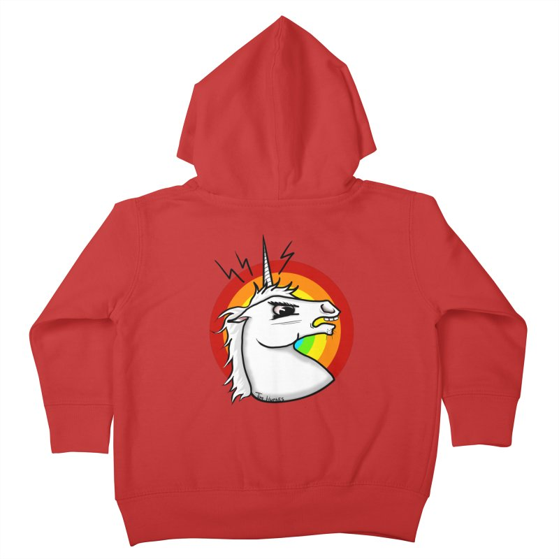 Angry unicorn Kids Toddler Zip-Up Hoody by Timhupkes's Artist Shop