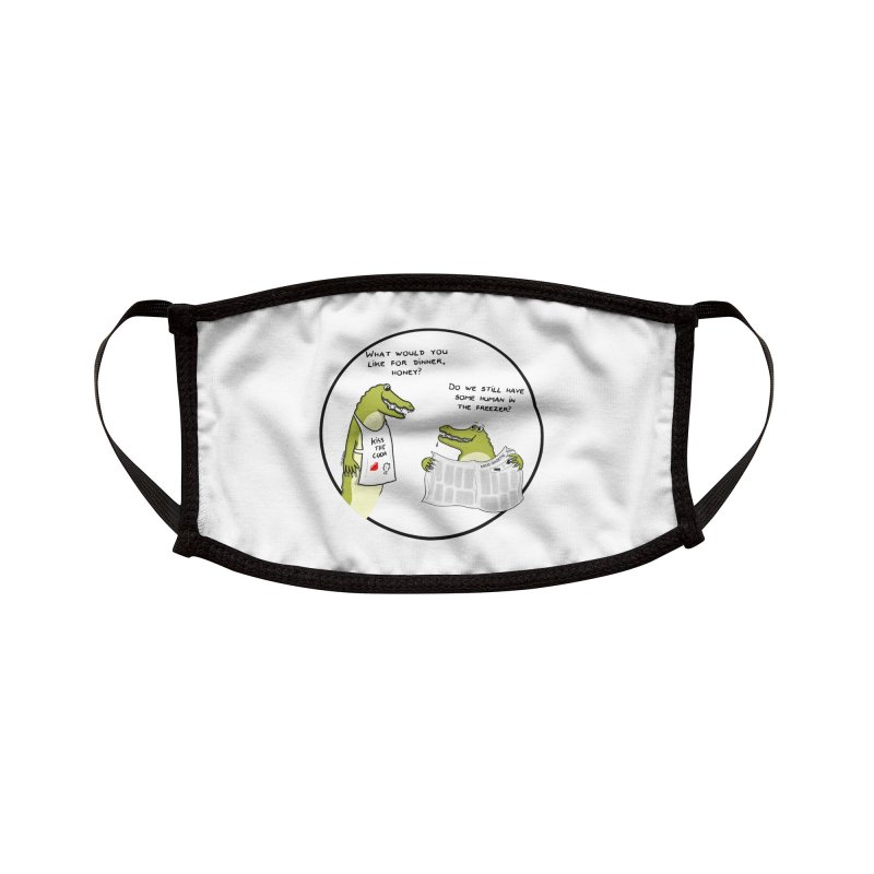 A croc's dinner Accessories Face Mask by Timhupkes's Artist Shop