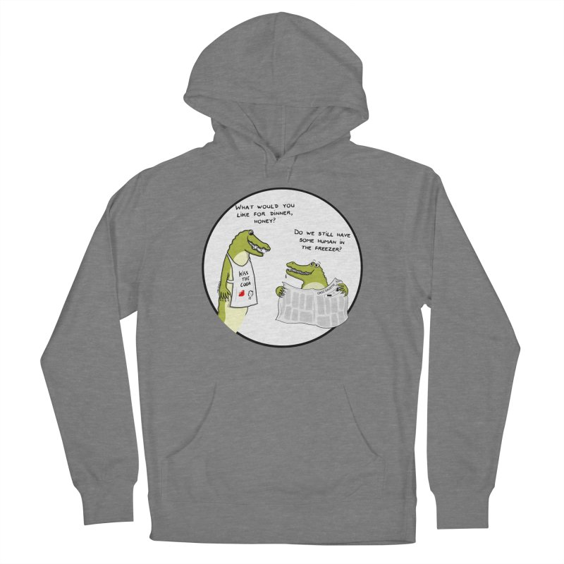 A croc's dinner Women's Pullover Hoody by Timhupkes's Artist Shop