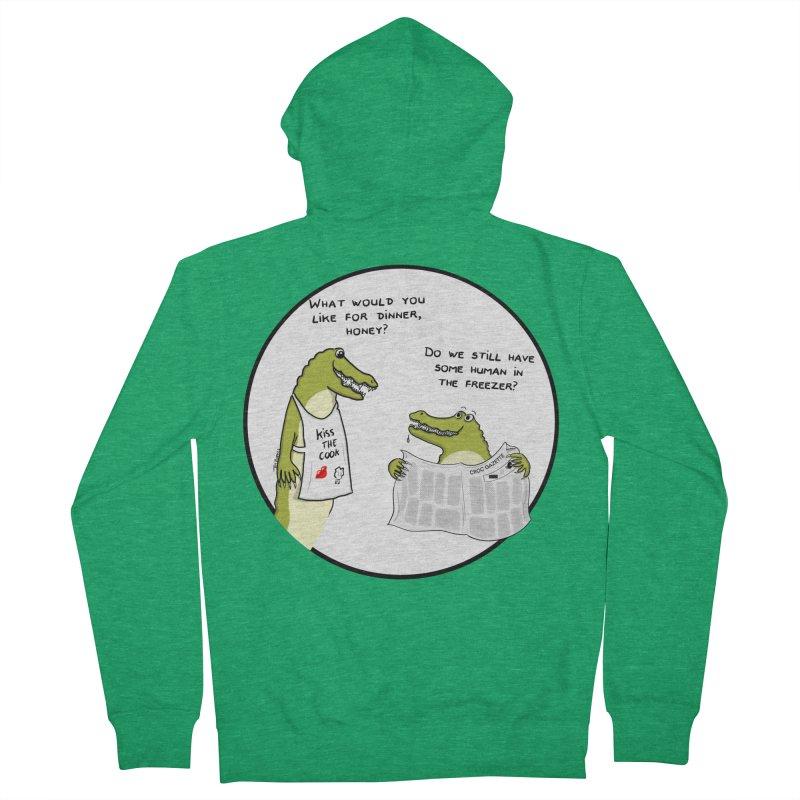 A croc's dinner Women's Zip-Up Hoody by Timhupkes's Artist Shop