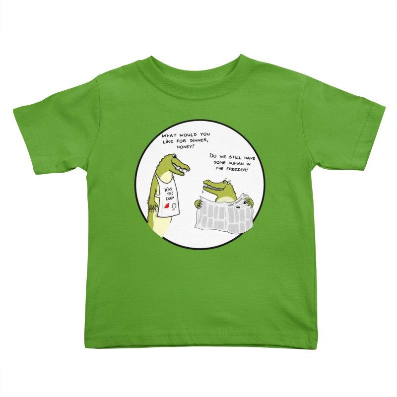 A croc's dinner Kids Toddler T-Shirt by Timhupkes's Artist Shop
