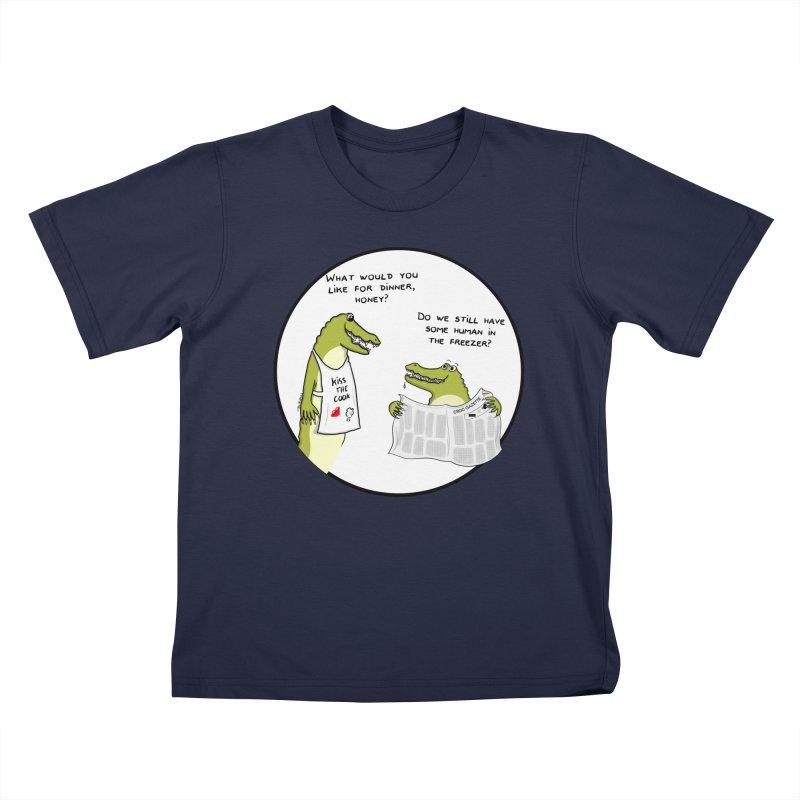 A croc's dinner Kids T-Shirt by Timhupkes's Artist Shop