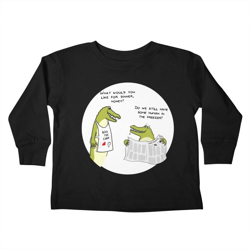 A croc's dinner Kids Toddler Longsleeve T-Shirt by Timhupkes's Artist Shop