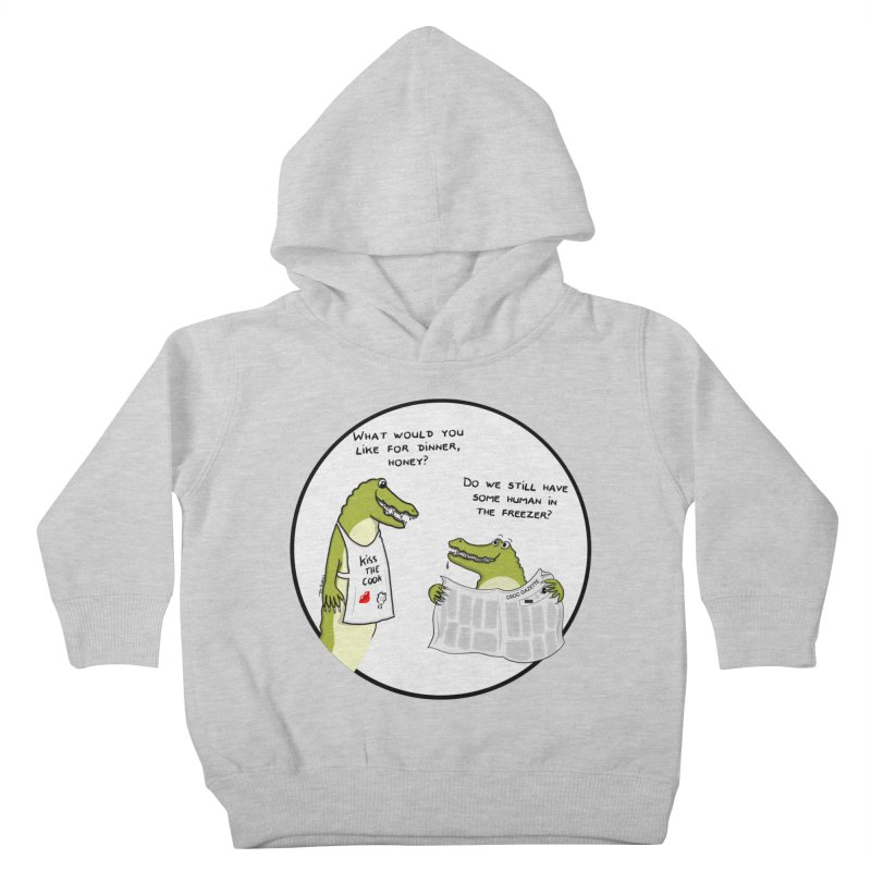 A croc's dinner Kids Toddler Pullover Hoody by Timhupkes's Artist Shop