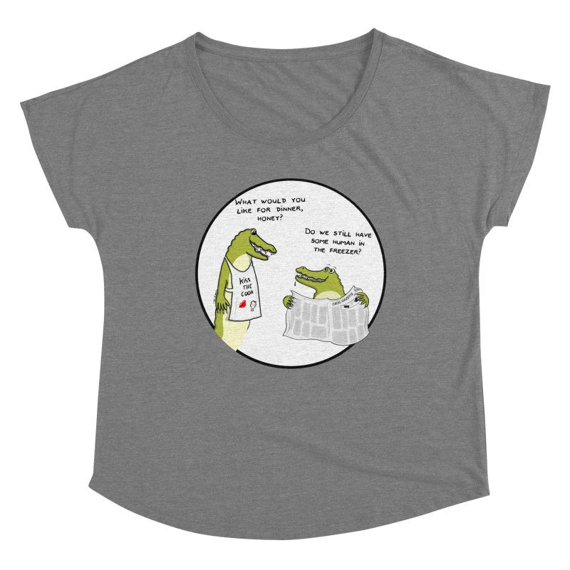 A croc's dinner Women's Scoop Neck by Timhupkes's Artist Shop