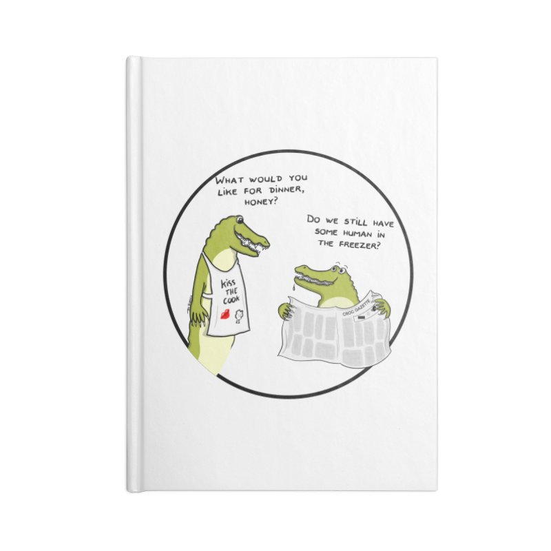 A croc's dinner Accessories Notebook by Timhupkes's Artist Shop