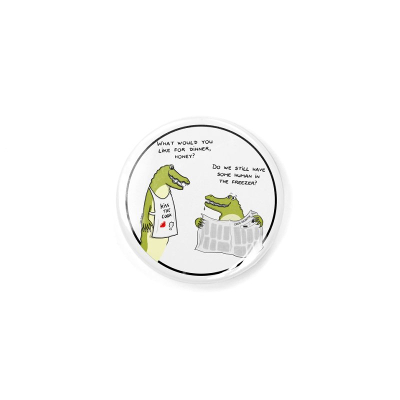 A croc's dinner Accessories Button by Timhupkes's Artist Shop