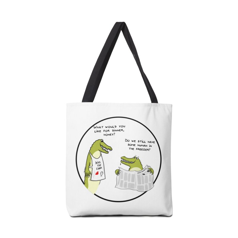 A croc's dinner Accessories Bag by Timhupkes's Artist Shop