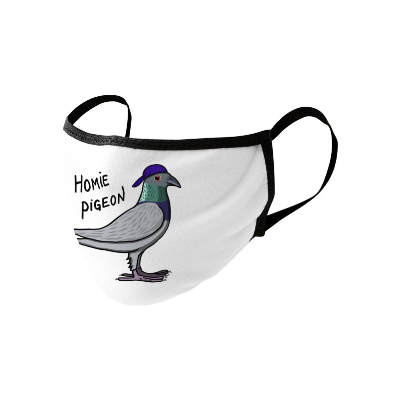 Homie Pigeon Accessories Face Mask by Timhupkes's Artist Shop