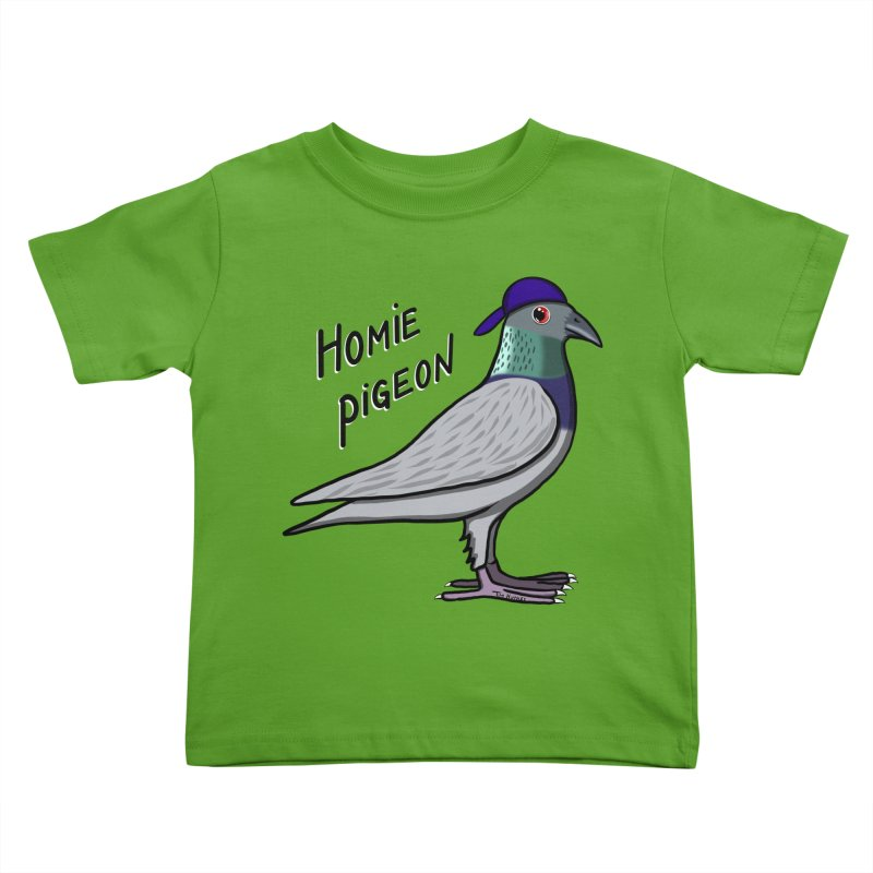 Homie Pigeon Kids Toddler T-Shirt by Timhupkes's Artist Shop
