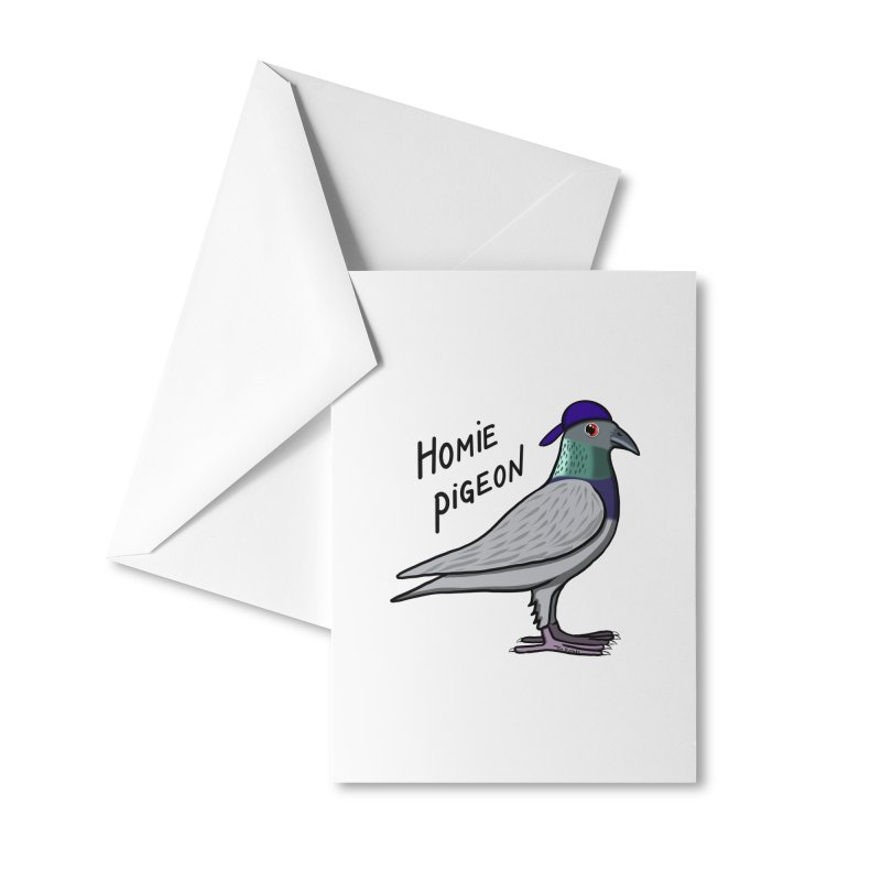 Homie Pigeon Accessories Greeting Card by Timhupkes's Artist Shop