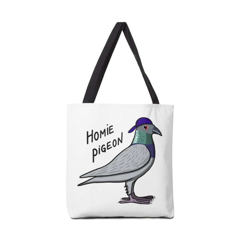 Homie Pigeon Accessories Bag by Timhupkes's Artist Shop