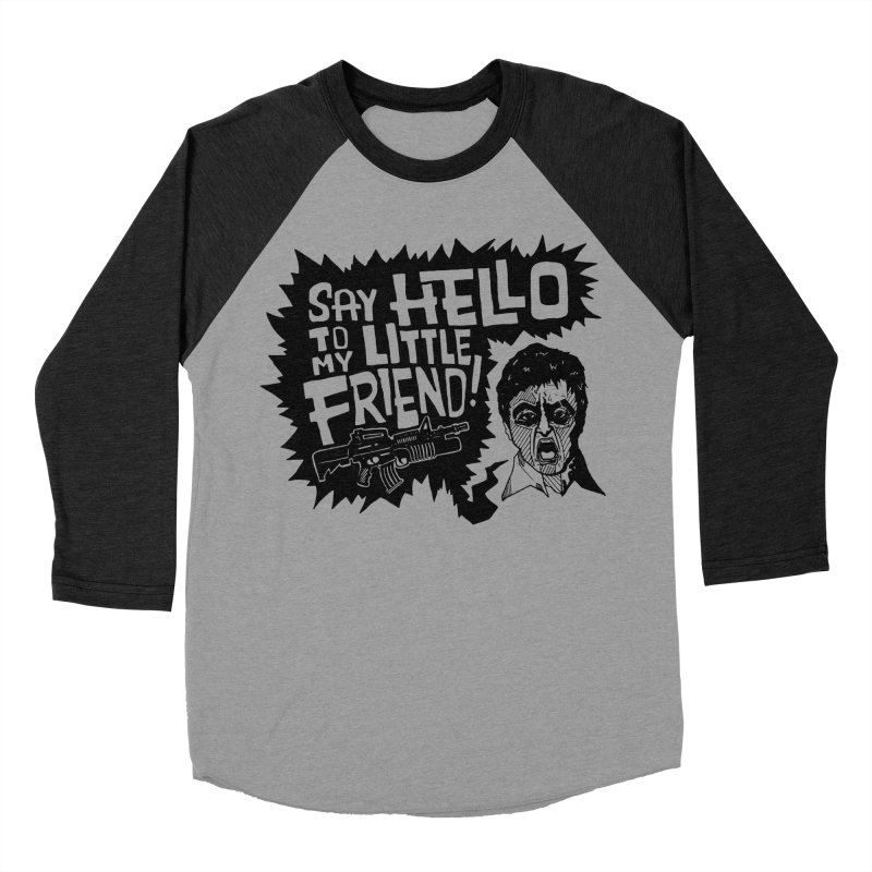 Scarface Men's Baseball Triblend Longsleeve T-Shirt by Timo Ambo