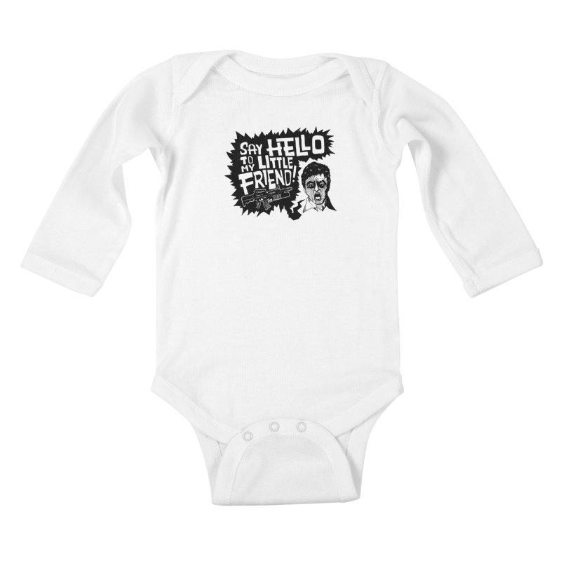 Scarface Kids Baby Longsleeve Bodysuit by Timo Ambo