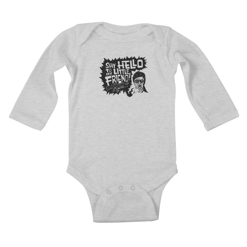 Scarface Kids Baby Longsleeve Bodysuit by Timo Ambo