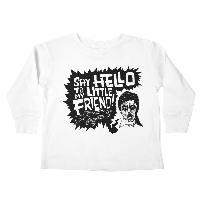 Scarface Kids Toddler Longsleeve T-Shirt by Timo Ambo