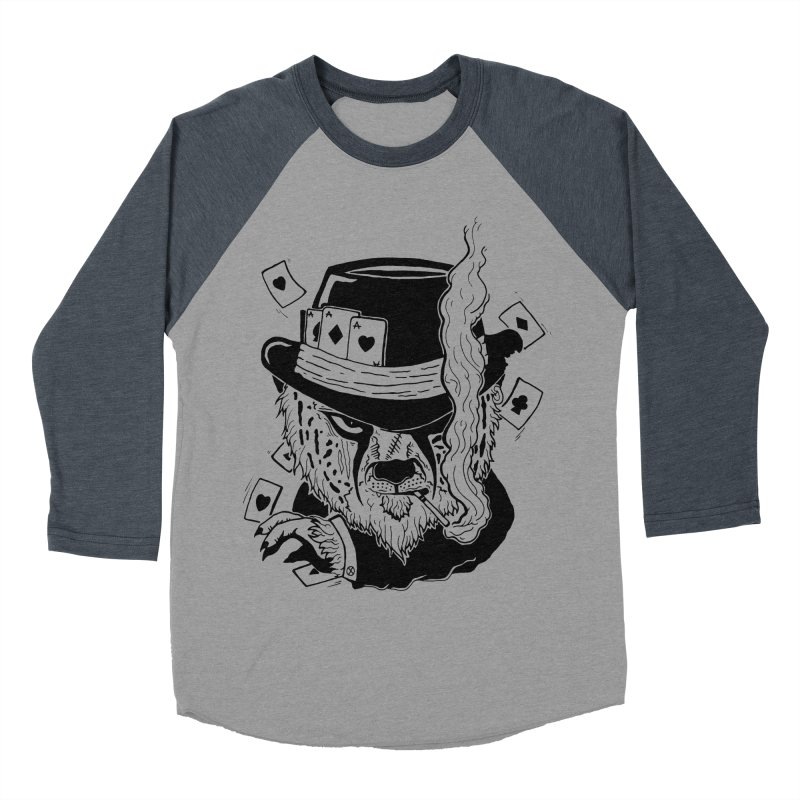 Cheat'n Cheetah Men's Baseball Triblend T-Shirt by Timo Ambo