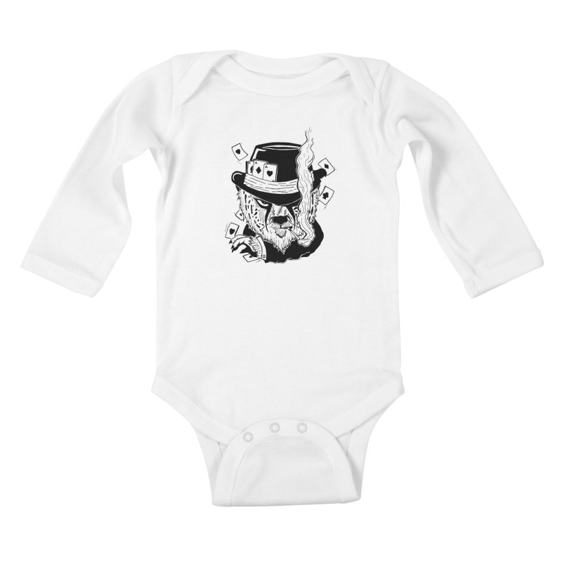 Cheat'n Cheetah Kids Baby Longsleeve Bodysuit by Timo Ambo