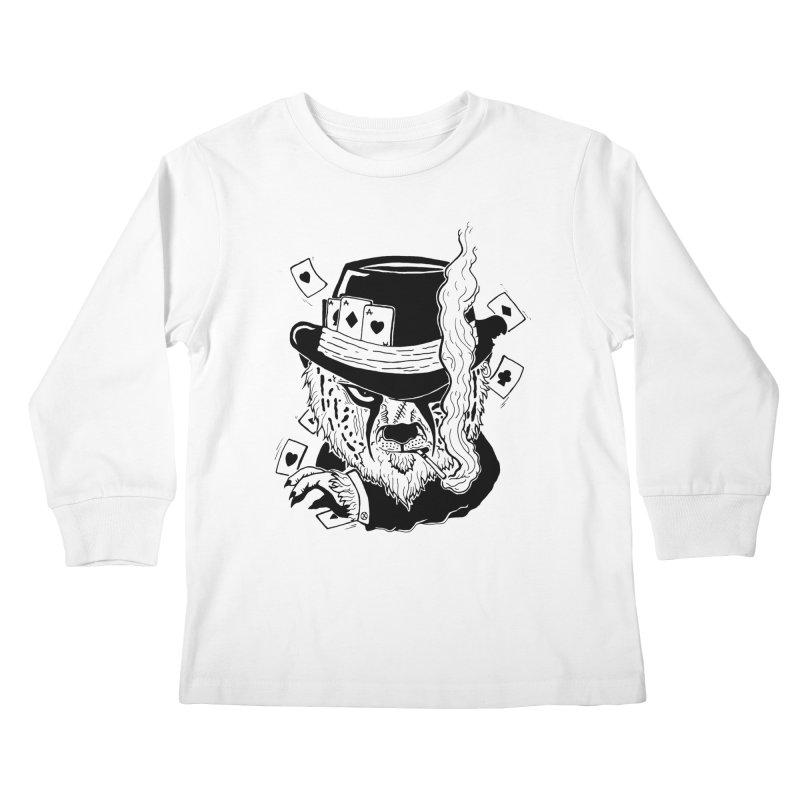 Cheat'n Cheetah Kids Longsleeve T-Shirt by Timo Ambo