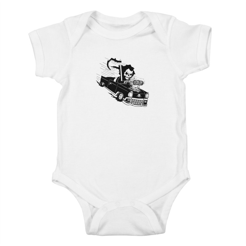 Ride or Die Kids Baby Bodysuit by Timo Ambo