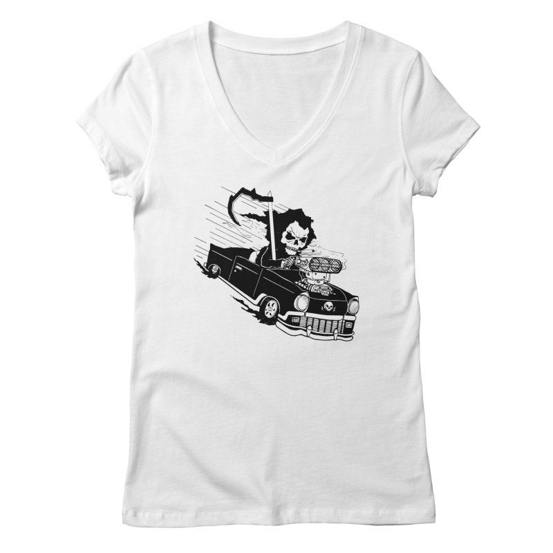Ride or Die Women's Regular V-Neck by Timo Ambo