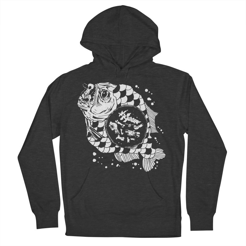 Hunger the Sea Men's French Terry Pullover Hoody by Timo Ambo
