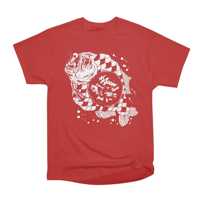 Hunger the Sea Men's Heavyweight T-Shirt by Timo Ambo