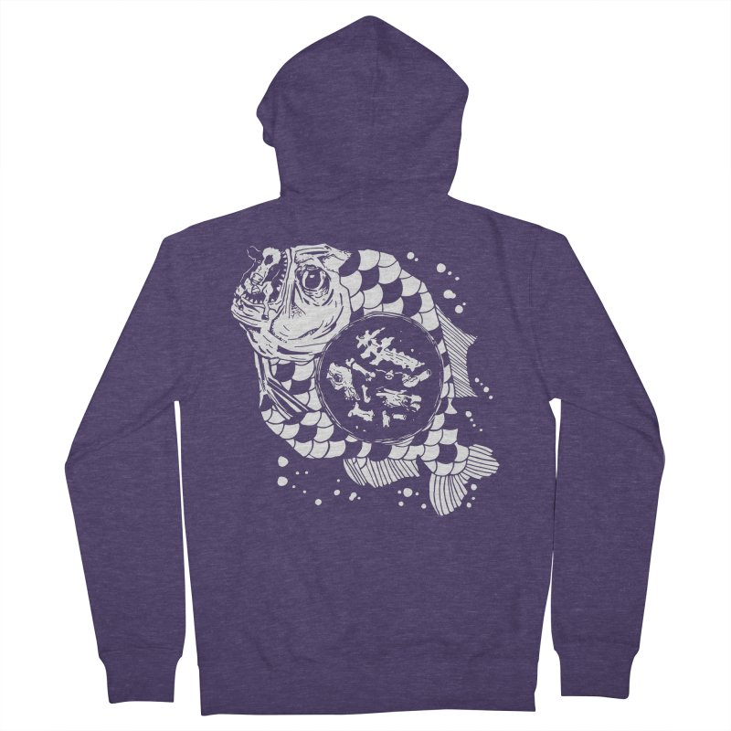 Hunger the Sea Men's Zip-Up Hoody by Timo Ambo