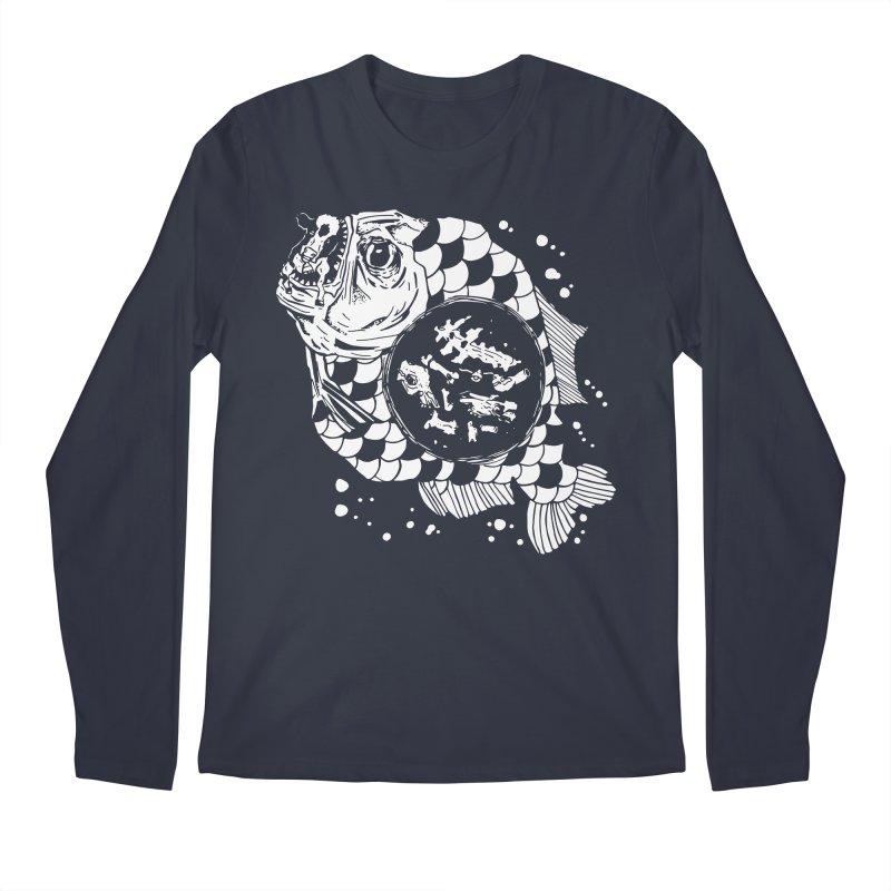 Hunger the Sea Men's Regular Longsleeve T-Shirt by Timo Ambo